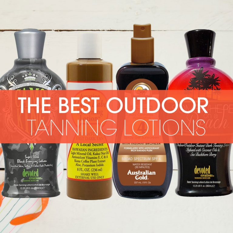 best outdoor tanning lotions featured image